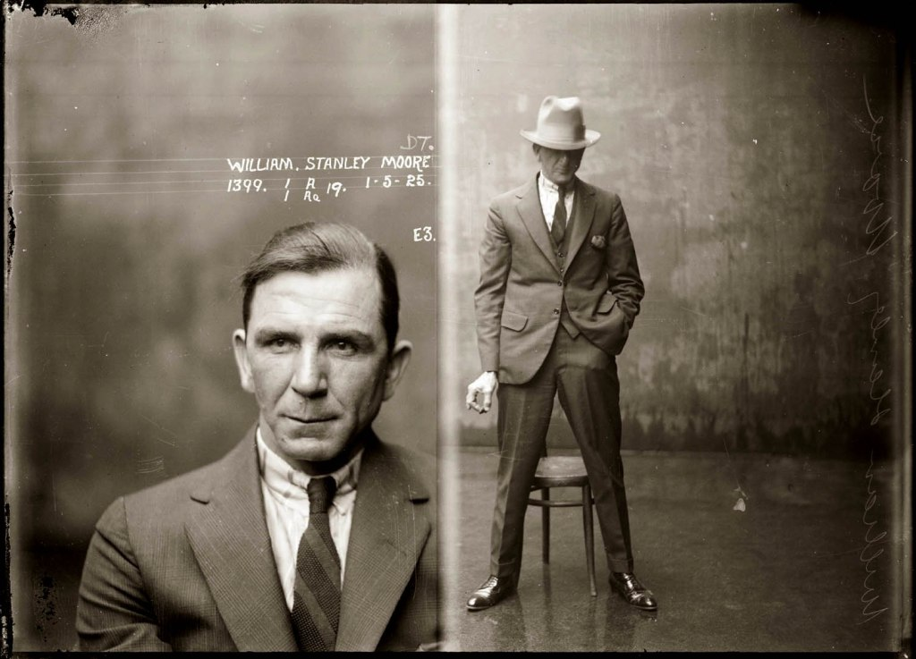 Mug shot of William Stanley Moore, 1925, Central Police Station, Sydney