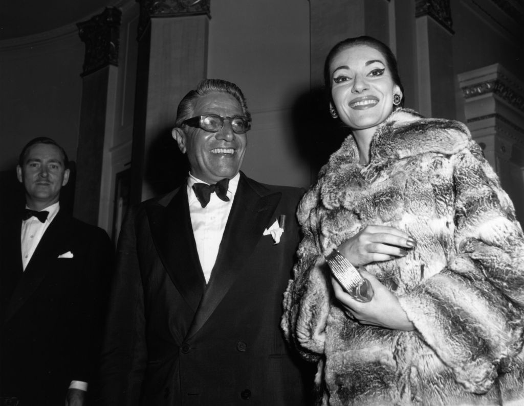 Aristotle Onassis & Maria Callas at a party at