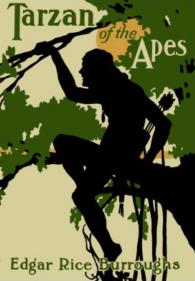 Cover of the book Tarzan of the Apes, written by Edgar Rice Burroughs (1914)
